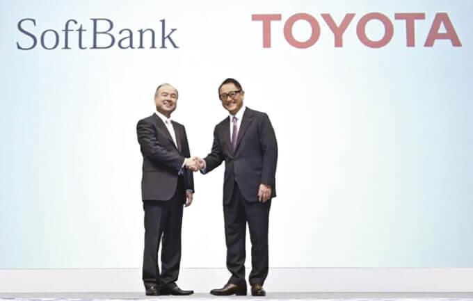 トヨタはソフトバンクとの提携で大変革を生き残る力をつける(18年10月の 「モネ・テクノロジーズ」設立の記者会見)