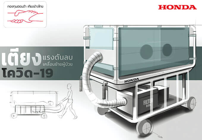 ホンダ、医療機器寄贈 自社工場で一部製造