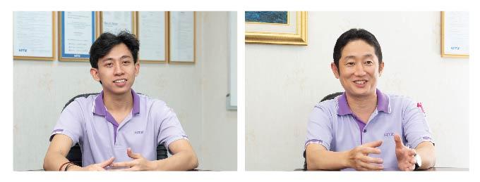 JSCASTの運用が任された若手のOrnut氏(左)とJSCAST導入を主導した堀田氏