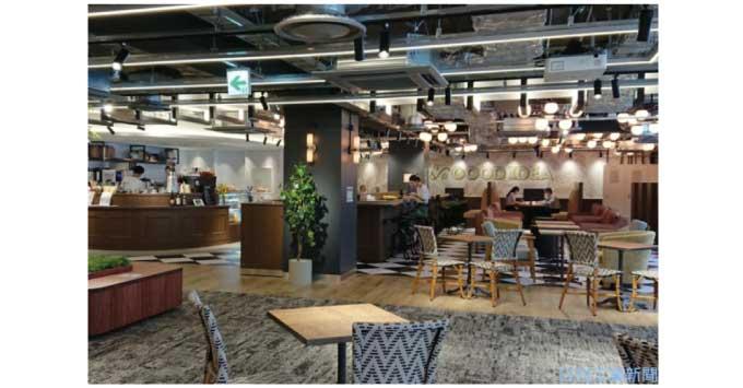 ▲ 三菱地所が開業した新東京ビル4階の新オフィス共用スペース
