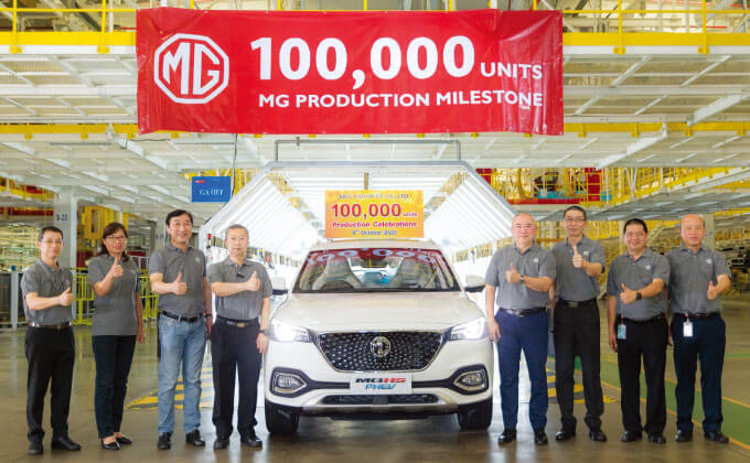 MGのタイ工場が10万台生産 新型PHVも市場投入